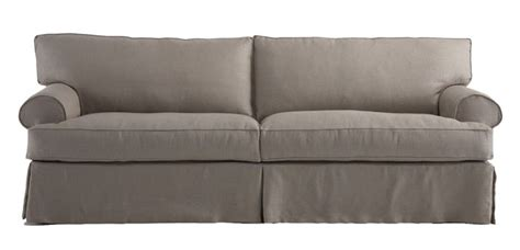 mitchell gold slipcover sofa nicki ii 88 quot eco down blend queen sleeper by mitchell gold