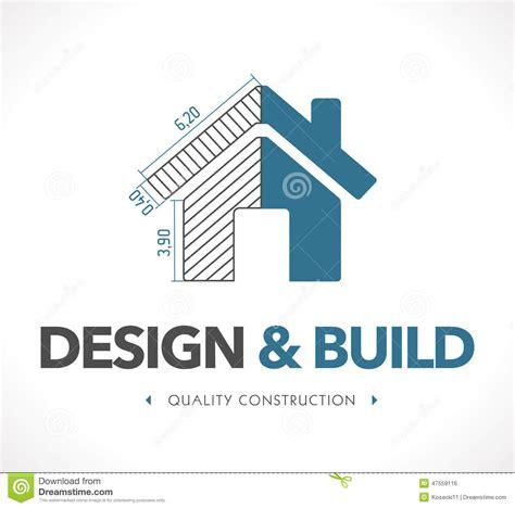 design build logo design and build stock vector illustration of