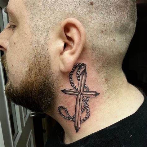 cross on neck tattoo cross tattoos designs for and