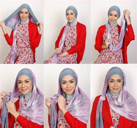 Jilbab Segi Empat Pesta Cara Memakai Jilbab Segi Empat Pesta Pernikahan Terbaru