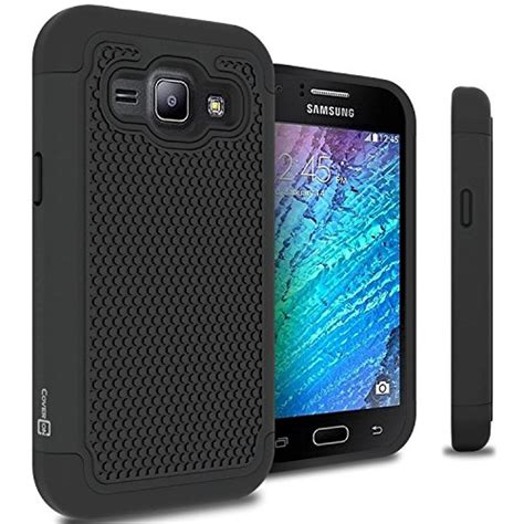 Soft Touch Hardcase Samsung Galaxy J1 2015 J100h J100f galaxy j1 verizon 2015 coveron hexaguard series slim hybrid phone cover for