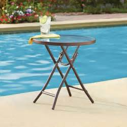 foldable patio table mainstays 18 quot folding side table ashwood walmart