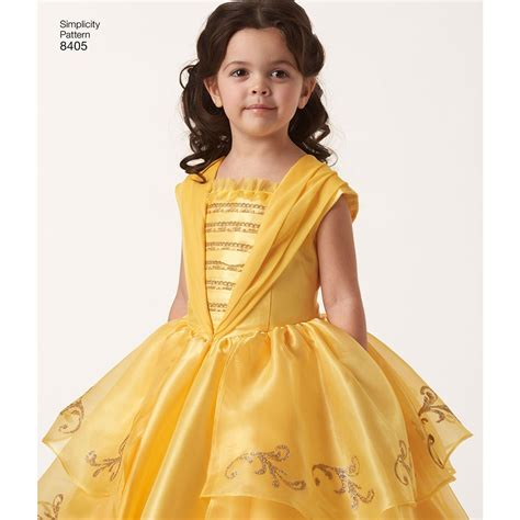 pattern for belle s yellow dress disney beauty and the beast costume for child and 18 inch