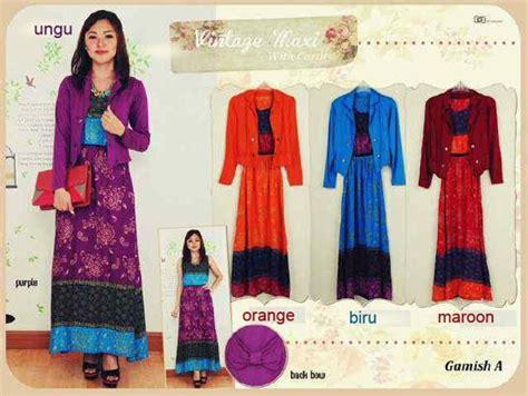 Set Gamis Cardi Batik busana batik modern rot 04 baju wanita kerja