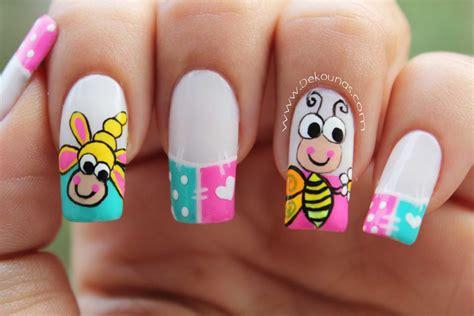 imagenes de uñas decoradas 2015 halloween decoraci 243 n de u 241 as caricatura abeja deko u 209 as moda en