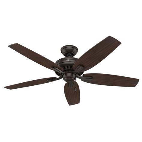 hunter ceiling fans home depot hunter newsome 52 in indoor premier bronze ceiling fan