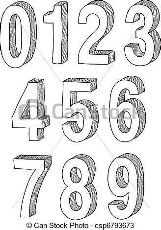Drawing Numbers by 3d Draw And Search On
