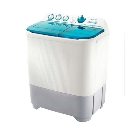Mesin Cuci Sharp Plus Pengering jual sharp es t85cr mesin cuci 2 tabung harga kualitas terjamin blibli
