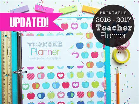 free printable teacher planner 2016 2016 2017 teacher planner printable instant download