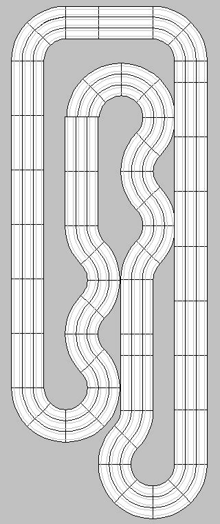 afx templates ho slot car racing ho slot car track layouts 2 and 4
