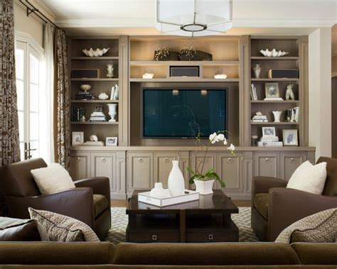 living room ideas no fireplace traditional family room with no fireplace and built in media and entertainment wall brown