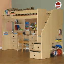 Metal Bunk Bed With Desk Underneath Berg Furniture Utica Twin Dorm Loft Bed With Stairs