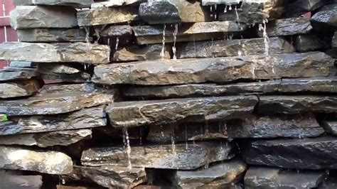 rock wall water fall fountain youtube