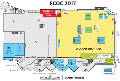 anaheim convention center floor plan venue location ecoc conference 2017