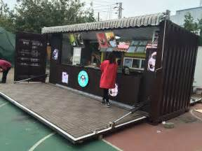 Outdoor 20ft shipping container kiosk into cafe mall kiosks food
