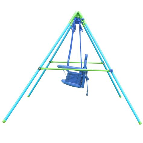 baby swing frame out indoor folding toddler swing chair fabric steel frame