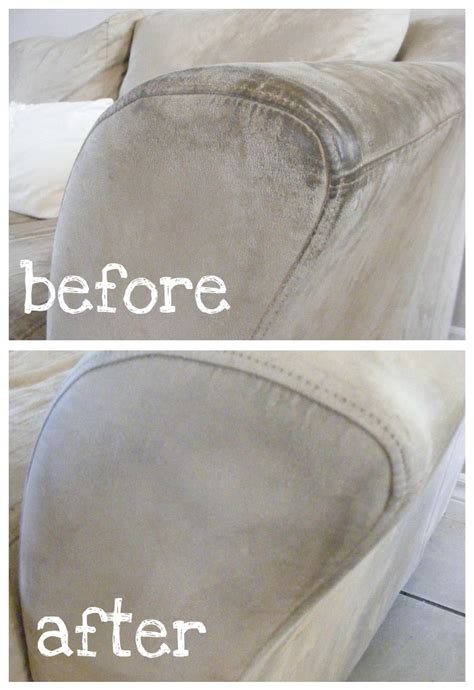 clean microfiber sofa how to clean microfiber awesome before and after