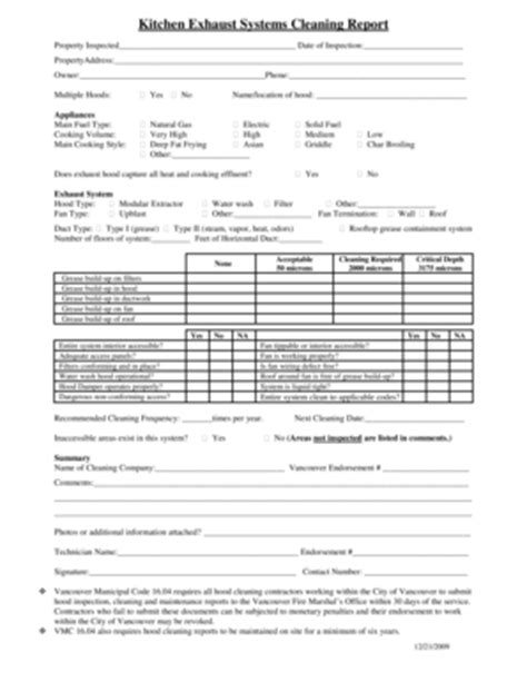 cleaning report template cleaning schedule charts forms and templates fillable