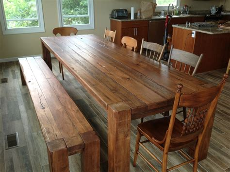 Reclaimed Wood Dining Room Sets by Finding The Artistic Old Barn Wood Furniture Trellischicago