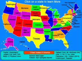 Show Me The Map Of The United States by United States Map Click And Learn