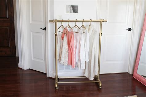 diy gold clothing rack 30 daily dose of charm