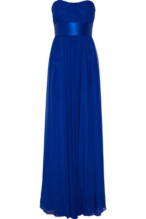 Marchesa Silk Chiffon Gown by Notte By Marchesa Strapless Silk Chiffon Gown In Blue Lyst