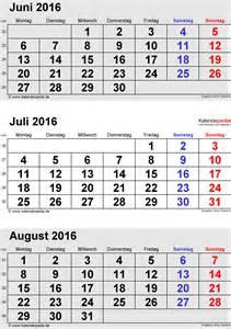 Kalender 2016 Juli Kalender Juli 2016 Als Pdf Vorlagen