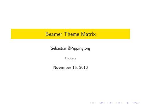 beamer theme goettingen logo beamer theme matrix