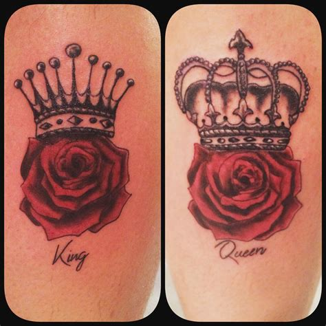 couple rose tattoo couple king and queen rose tattoos venice tattoo art designs