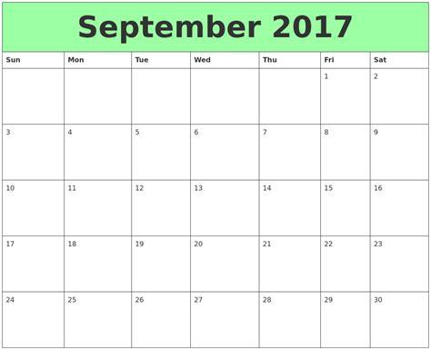 Calendar October 2017 To September 2018 September Calendars