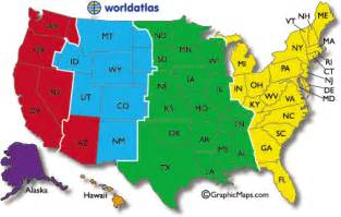time zone map for america current dates and times in u s states map