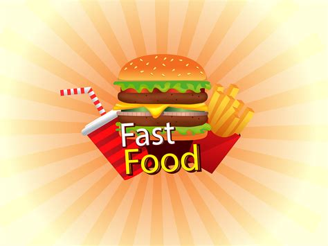 Fast Food Backgrounds Foods Drinks Red White Yellow Templates Free Ppt Backgrounds And Fast Food Ppt Slides