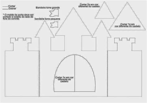 Gift Card Holder Castle Template by Diy Castle Shaped Invitation Or Card With Template Oh