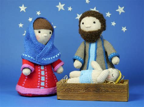 knitting pattern nativity holy family nativity set knitting pattern