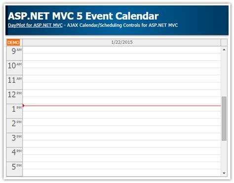 tutorials daypilot for asp net mvc calendar scheduler asp net mvc 5 event calendar daypilot code