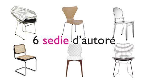 sedie designer famosi 6 sedie di design famose