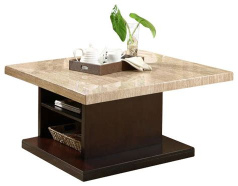 homelegance mooney 3 faux marble coffee table set