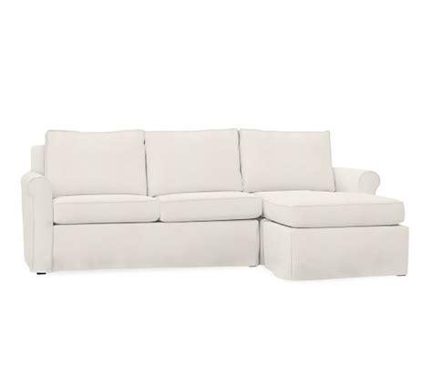 Cameron Roll Arm Sofa With Chaise Slipcover Denim Warm Pottery Barn Denim Sofa