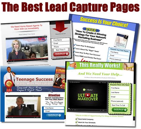 the best lead capture pages how do you make one