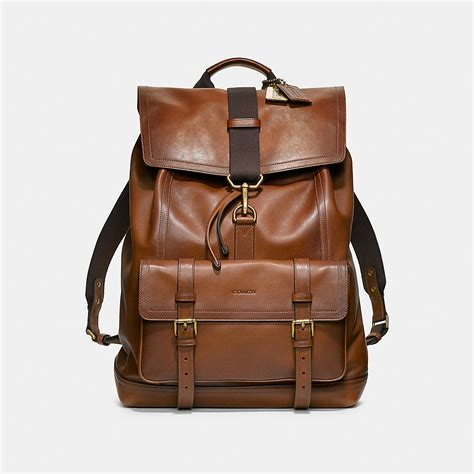 leather backpack coach mens leather backpacks bleecker backpack in leather
