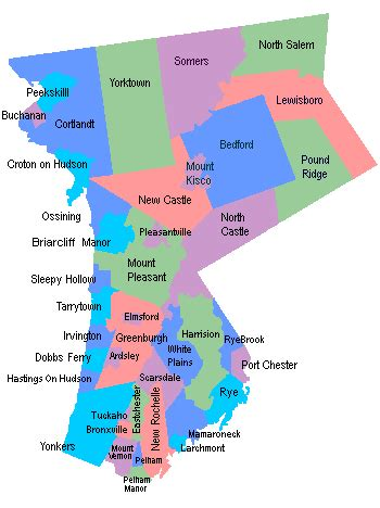 westchester county map westchester county ny westchester county ny town information resource