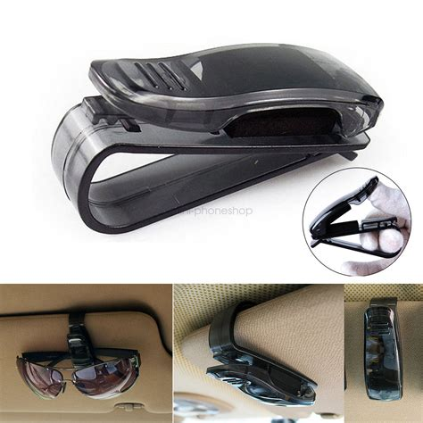 Sun Visor Aylaagya Ori 1pc 2 1pc universal car sun visor clip holder for reading glasses sunglasses eyeglass ebay