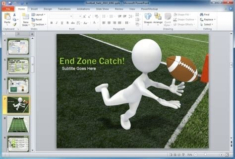 Animated Football Field Powerpoint Template Football Powerpoint Slides