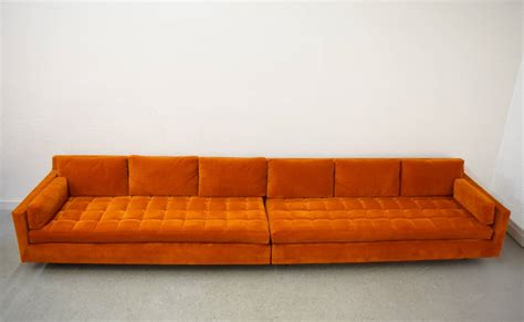 long tufted sofa long tufted harvey probber sofa at 1stdibs