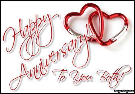 Happy Anniversary To You Both Linked Hearts Glitter