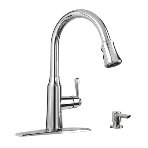 chrome kitchen faucets shop american standard soltura polished chrome 1 handle pull deck mount kitchen faucet at