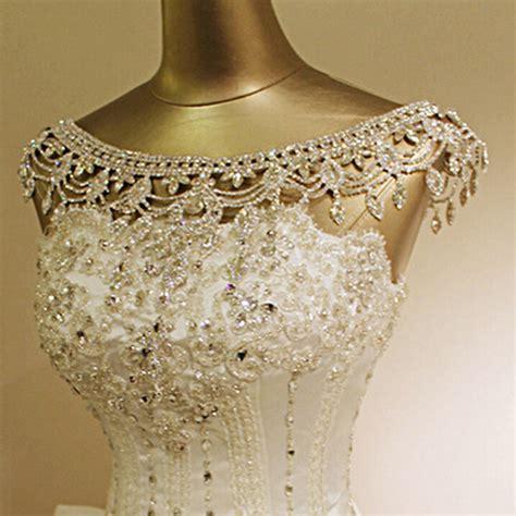 wedding bridal rhinestone shoulder chain