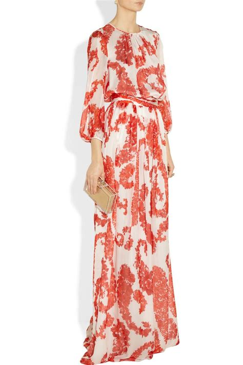 Floral Print Chiffon Skirt floral print silk chiffon maxi skirt