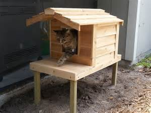 small outdoor cedar cat house