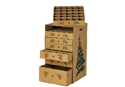 cardboard christmas ornament storage organization boxes